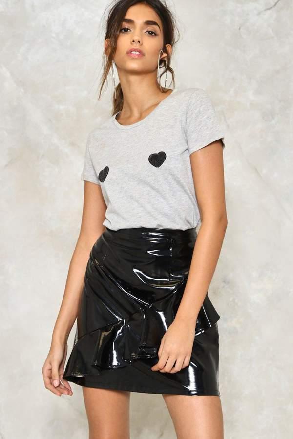 nastygal Gimme a Shine Ruffle Skirt
