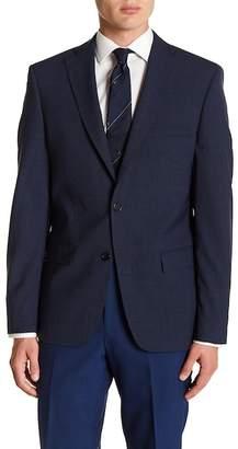 John Varvatos Notch Collar Front Button Blazer