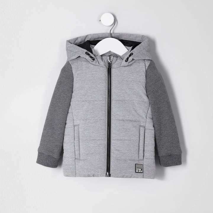 Mini boys Grey jersey sleeve gilet jacket