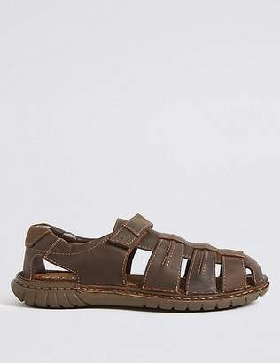 Marks and Spencer Extra Wide Leather Fisherman Riptape Sandals