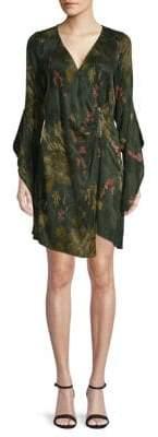 Floral Zip Kimono Dress