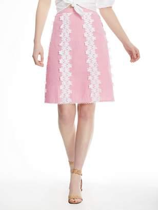 Draper James Seersucker Lace Skirt