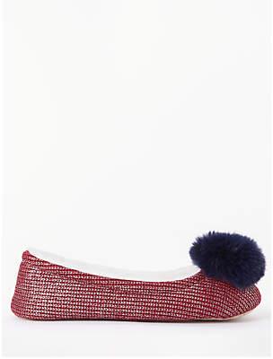 f3f064e1518 John Lewis   Partners Metallic Ballerina Slippers