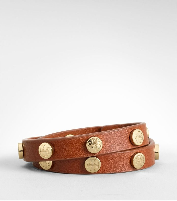 Tory Burch Skinny Cuff With Logo Studs