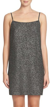 Women's Cece Mia Foil Knit Slipdress $98 thestylecure.com
