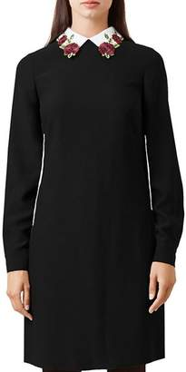 Hobbs London Theodora Collared Shift Dress