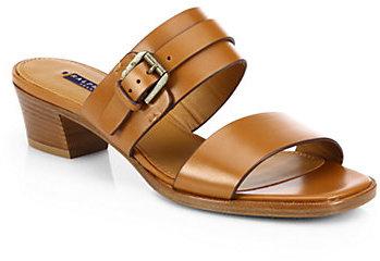 Ralph Lauren Nessina Leather Buckle Sandals