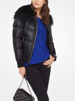 MICHAEL Michael Kors Fur-Trimmed Quilted Jacket