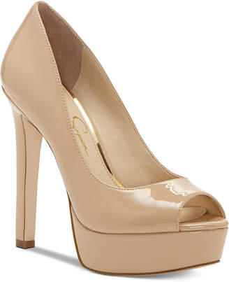 Jessica Simpson Bellena Peep Toe Platform Pumps Women's Shoes