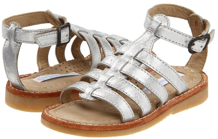Elephantito Roma Sandal (Toddler/Youth) (Silver) - Footwear