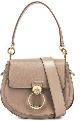Chloé Large Tess Grained Leather Bag in Motty Grey | FWRD
