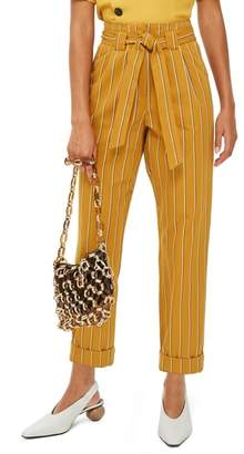 Topshop Polly Stripe Peg Trousers