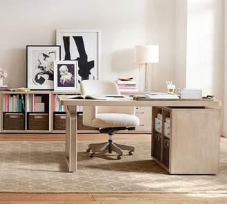 Pottery Barn Danielle Desk With Open Shelves
