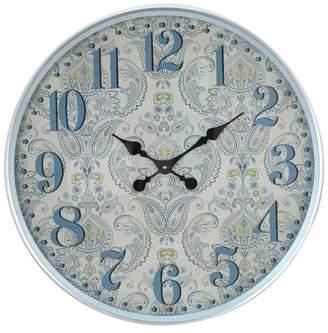 Brimfield & May Farmhouse Iron Flourish-Designed Round Wall Clock