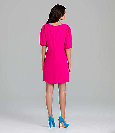 Gianni Bini Morgan Puff-Sleeve Shift Dress