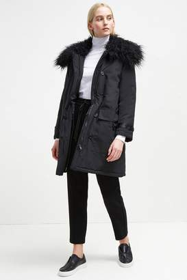 Marlow French Connenction Utility Faux Fur Collar Parka