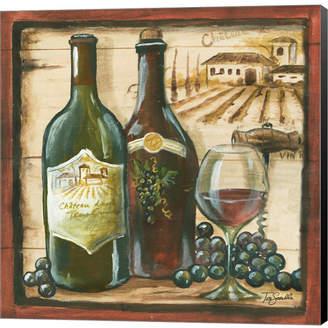 Metaverse Wooden Wine Square I by Tre Sorelle Studios Canvas Art