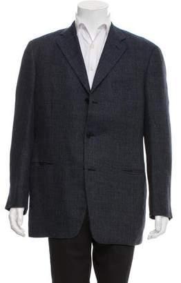 Celine Woven Three-Button Blazer