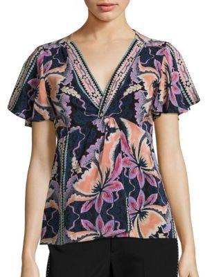 Nanette Lepore Venus Floral-Print Silk Top $278 thestylecure.com