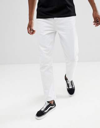 Asos DESIGN recycled tapered jeans in white