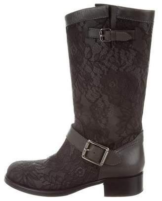 Valentino Lace Biker Boots