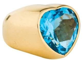 Fred Leighton 18K Blue Topaz Cocktail Ring