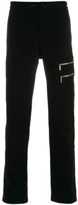 Versace zip-embellished joggers