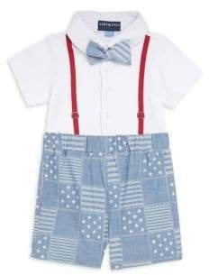 Andy & Evan Baby's All-American Shortall Set