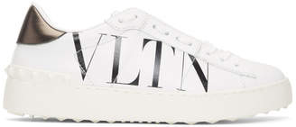 Valentino White and Black Garavani VLTN Open Sneakers