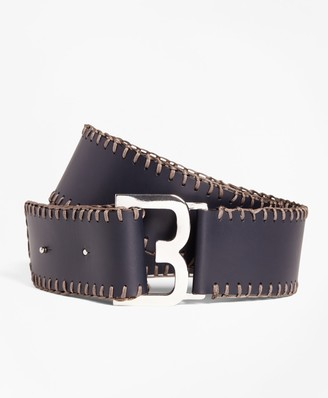 Brooks Brothers Whipstitched Leather Belt