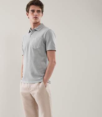 Reiss Port Garment Dyed Polo Shirt