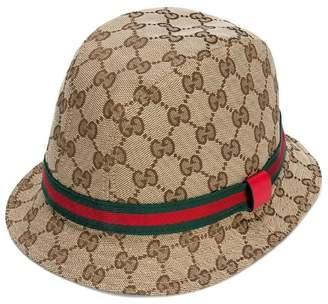 Gucci Kids GG logo fedora hat
