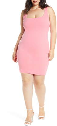 Leith Square Neck Body-Con Minidress