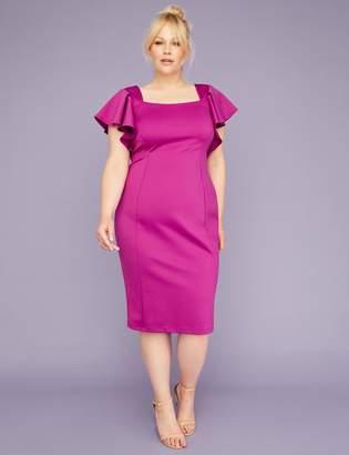 Lane Bryant Ruffle Sheath Dress