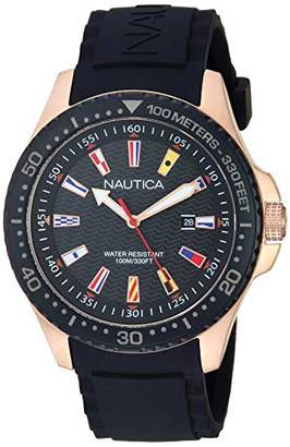 Nautica Men's 'Jones Beach' Quartz Stainless Steel and Silicone Casual Watch