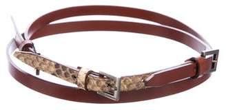 Dolce & Gabbana Leather Snakeskin Belt