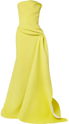 Maticevski - Opera Strapless Gathered Cady Gown - Yellow