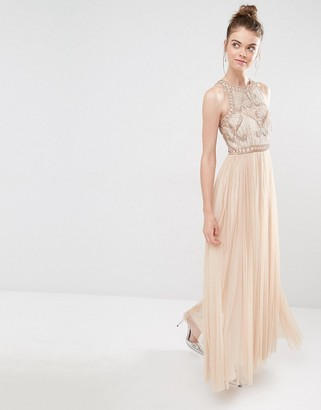 Frock and Frill Tulle Maxi Dress With Embellished Bodice $234 thestylecure.com