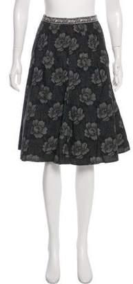 Max Mara Weekend Floral Pleated Skirt
