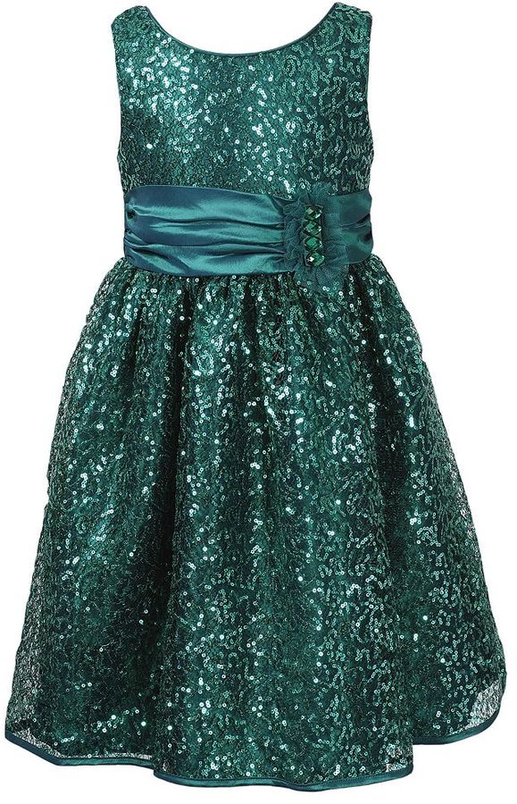 Youngland sequin dress - girls 4-6x