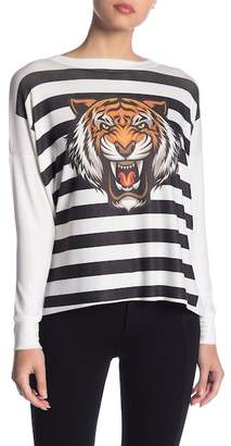 Couture Go Printed Dolman Sleeve Sweater