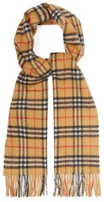 Burberry Vintage Check Cashmere Scarf - Mens - Tan Multi