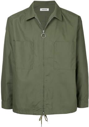 Monkey Time Zipped Shirt Jacket