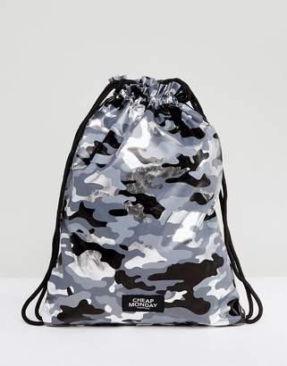 Cheap Monday Camo Print Drawstring Bag