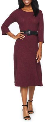 Ronni Nicole 3/4 Sleeve Fit & Flare Dress