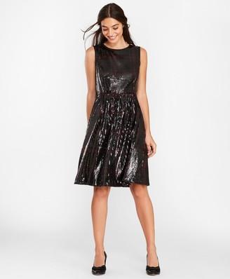 Brooks Brothers Sequined Plaid Dress