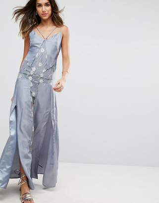 Asos Design Lace Cami Lingerie Maxi Dress