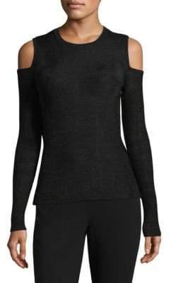 Michael Kors Ribbed Cold-Shoulder Sweater