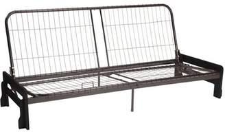Comfort Style Phoenix Futon Sofa Sleeper Bed Frame, Full-size, Black Arms