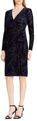 Ralph Lauren Flocked Velvet Dress